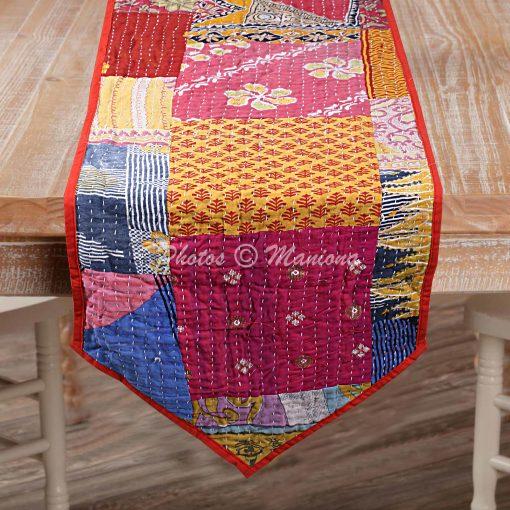 Decorative Kantha Table Runner