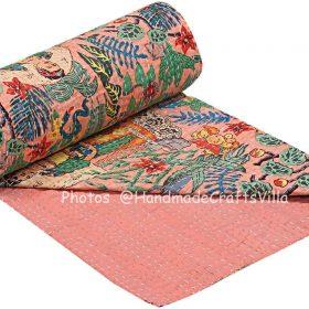 Pink Frida Kahlo Bohemian Blanket