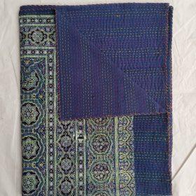 Kantha Ajrak Cotton Blockprint Quilt