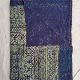 Ajrak Blockprint Kantha Handblock Bedspread